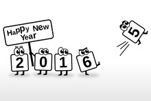 Happy New Year 2016 Toon