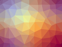 Purple Red Yellow Gradient Polygon Shaped Background