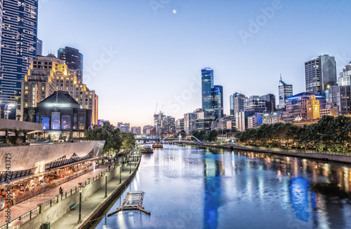 Melbourne, Victoria - Australia. Beautiful city skyline