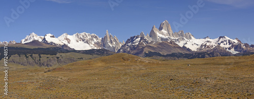 Patagonian Mountain Panorama #97248576