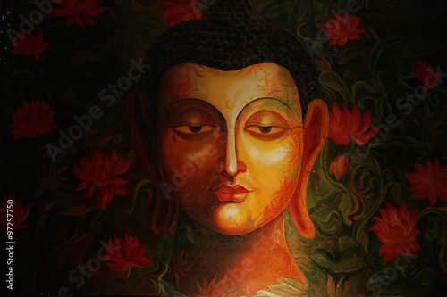 painting of lord buddha portrait drawing of lord gautam buddha