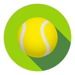 Panel Szklany Tenis Icono plano pelota de tenis con sombra