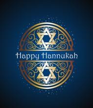 Happy Hanukkah With David Stars