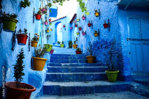 In de dag Afrika Blue town Chefchaouen