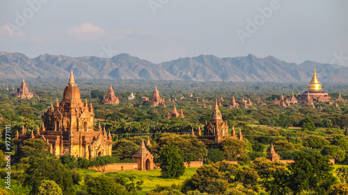Bagan archeological site, Myanmar Canvas Print