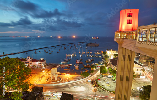 Photo Sunset view of Salvador City in Bahia, Brazil
