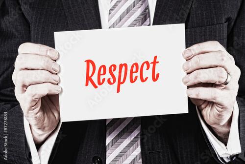 Fotografie, Obraz  Respect Concept.