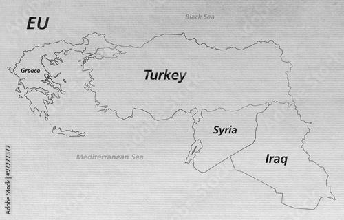 Overview Crisis Map - Turkey Syria Iraq Lebanon Greece EU V2 ...