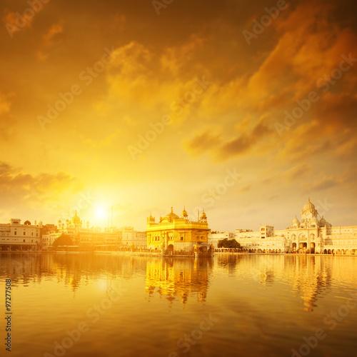 Golden Temple India sunrise
