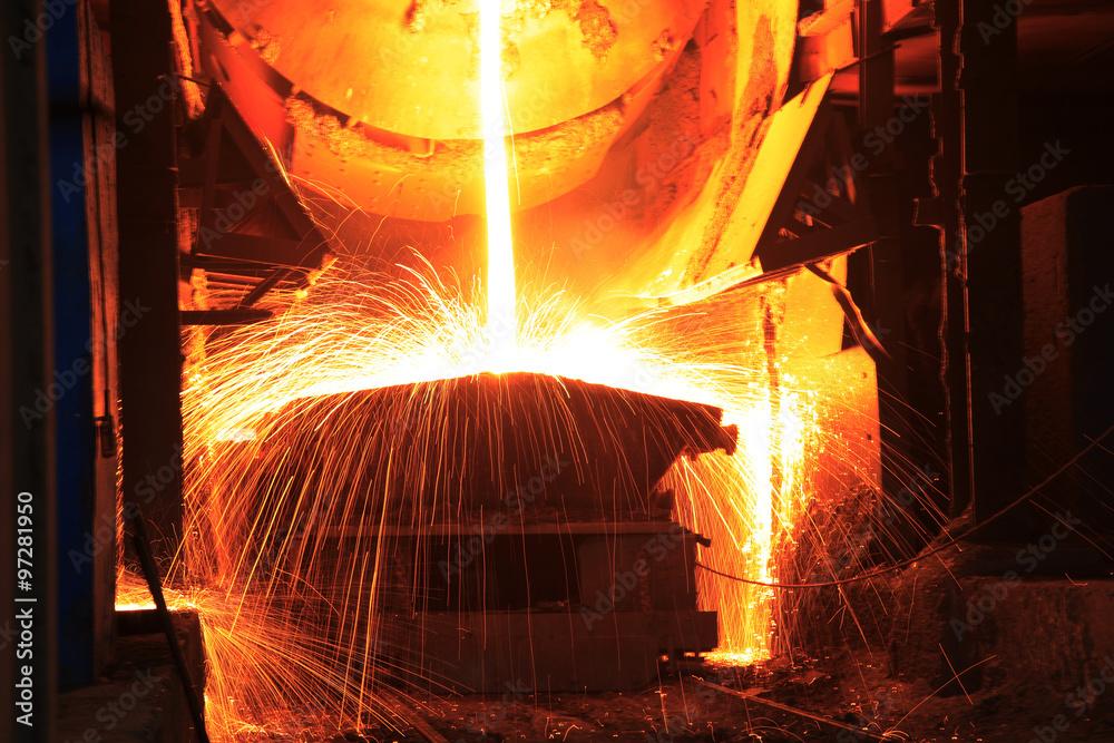 Fototapety, obrazy: Steelmaking workshop