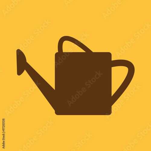 Fotografia The watering can icon. irrigation symbol. Flat