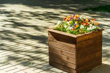 Wooden Flowerbed