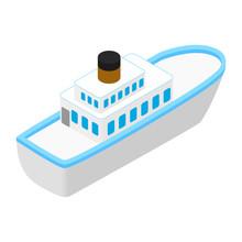 Cruise Sea Ship Isometric 3d I...
