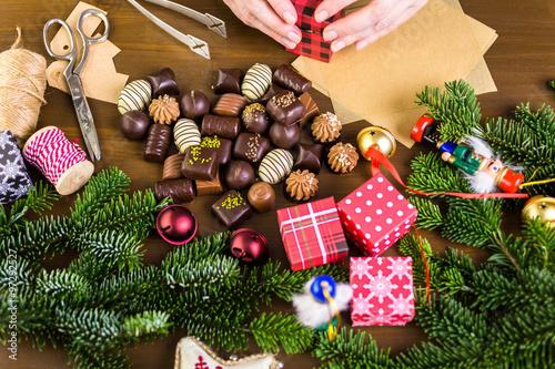 Canvas Prints Akt Christmas presents