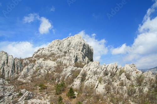 Fotografie, Obraz  Rocky peaks on Velebit mountain in Croatia