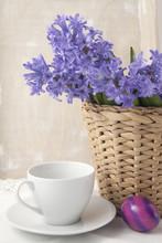 Bouquet Of Purple Hyacinths In...