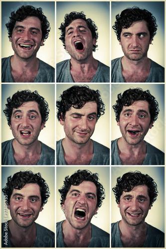 Fotografie, Obraz  Real Person Facial expressions