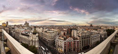 In de dag Madrid Panoramical aerial view of Madrid