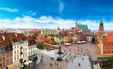 Obraz na Szkle Do restauracji Panoramic view of Warsaw