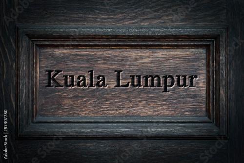 Engraved City Kuala Lumpur Poster