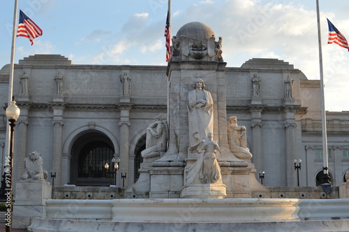 The Columbus Memorial in front of Union Station in Washington DC Canvas Print