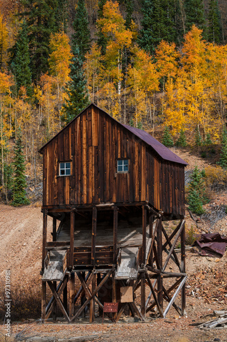 Fotografie, Obraz  Red Mountain mining district, between Ouray and Silverton, CO,