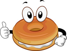 Mascot Food Bagel