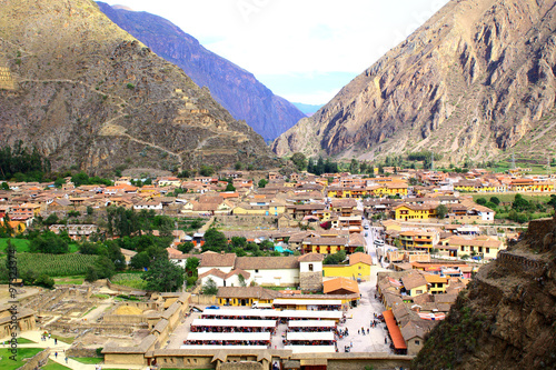 Fotografie, Obraz  Small town of Ollantaytambo, Peru in the Sacred Valley