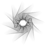 Abstrakcjonistyczny spirografu wzór, tekstura na bielu /. Sztuka wektor. - 97327729