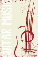 Spanish Guitar Music. Spanish Guitar Drawing
