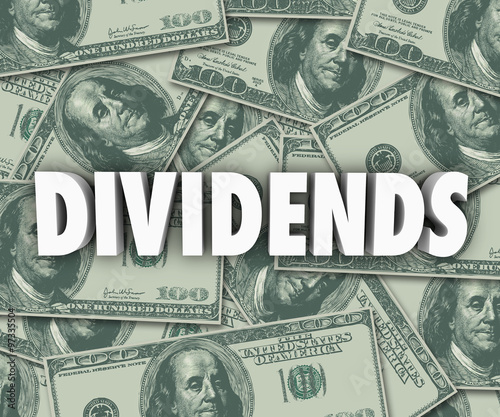Cuadros en Lienzo Dividends Earning Money Profits Stock Investments