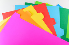 Colourful Paper Isolated On Wh...