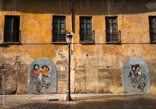 Staande foto Praag Old building wall