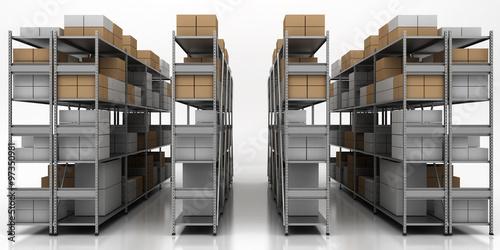 Poster Bibliotheque Scaffalature, Stoccaggio, Packaging, Imballaggio, Magazzino