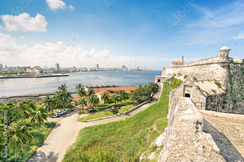 Fotobehang Havana Havana skyline view from the fortress of