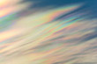 canvas print picture - Cloud iridescence : diffraction phenomenon produce very vivid color and make cloud shine like a corona.