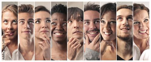 Fototapety, obrazy: Smiling thinkers