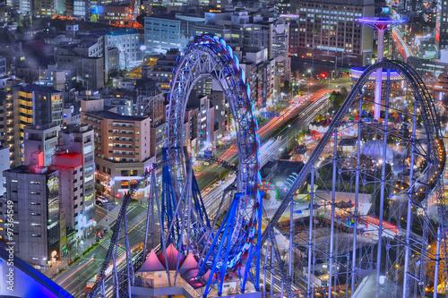Tokyo Amusement Park Canvas Print