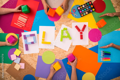 Fotografie, Obraz Children playing together