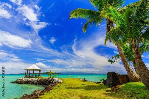 Poster Eiland Apia, Samoa.