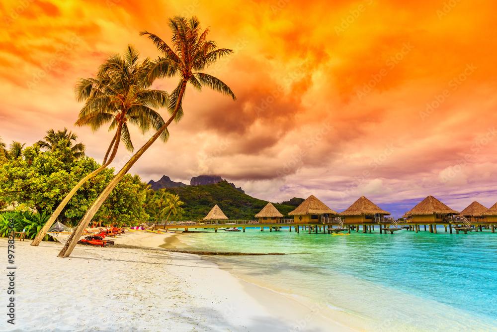 Fototapeta Bora Bora, French Polynesia.
