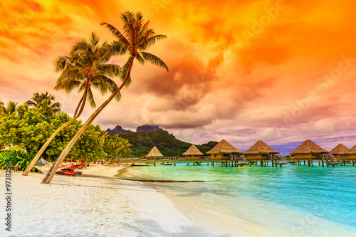 Bora Bora, French Polynesia. Canvas Print