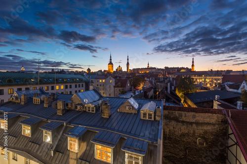 Fototapeta Tallinn, Estonia at the old city. obraz na płótnie