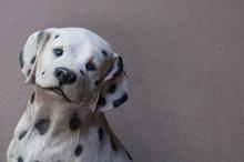 Dalmatian Dog In Stone
