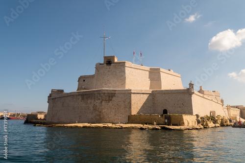 Tuinposter Vestingwerk Fort St. Angelo in Valetta - Hauptstadt von Malta