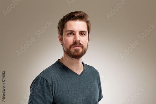 Young man with beard Fotobehang
