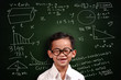 Little Asian Student Boy Math Genius