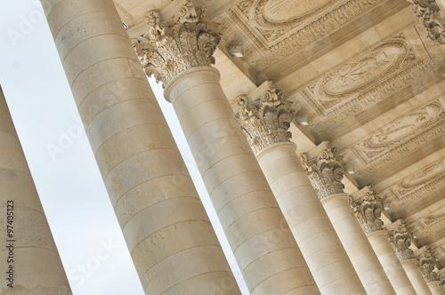 Staande foto Artistiek mon. grand théatre bordeaux colonnes
