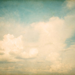 FototapetaVintage nature background of sky with cloud, old paper texture