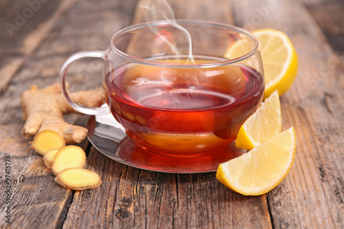 lemon and ginger tea #97413776